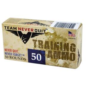 Team Never Quit Duty Lead Free Training Handgun Ammunition .38 Spl (+P) 110 gr 50/ct