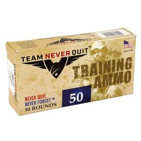 Team Never Quit Lead Free Handgun Training Ammunition .40 S&W 125gr  50/ct