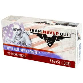 Team Never Quit Match Rifle Ammunition 7.62x51 175 gr 20/ct