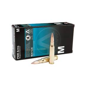 PNW Arms Sniper Rifle Ammunition 7.62mm x 51 NATO 175 gr HPBT 2555 fps 20/Box