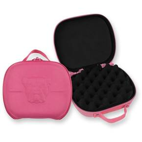 "Bulldog Molded Nylon Pistol Case with Hand & Egg Crate -  7.5x9"" Pink"