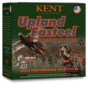 "Kent Upland Fasteel Shotshells 12 ga 2-3/4"" 1-1/8oz 1400 fps #5 25/ct"