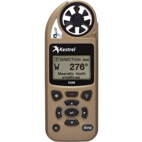Kestrel 5500 Weather Meter with Bluetooth LiNK + Vane Mount (Tripod not included) - Desert Tan