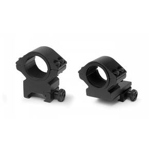 "Konus 2-Piece Steel Riflescope Rings With Quick Release Lever 1"" Medium - Matte Black"