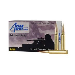 ABM Misson Ready Juggernaut Berger Rifle Ammunition .308 WIN 185 gr OTM 2608 fps 20/ct