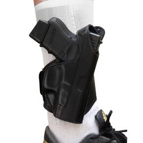 Tagua Leather Ankle Holster Black FOR GLOCK 26