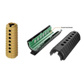 Leapers Model 4/15 Shorty Replacement Handguard Set - Black