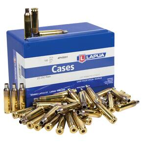 Lapua Unprimed Brass Rifle Cartridge Cases 100/ct .22-250 Rem