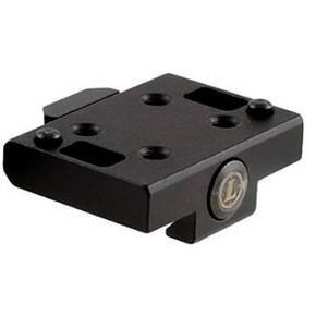 Leupold DeltaPoint Pro Cross Slot Mount Adapter For Leupold DeltaPoint Pro Reflex Sight LU119687 & LU119687, Matte