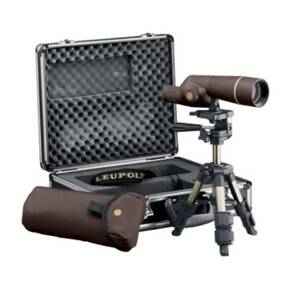 BLEMISHED Leupold Gold Ring 15-30x50mm Compact Spotting Scope Kit - Brown