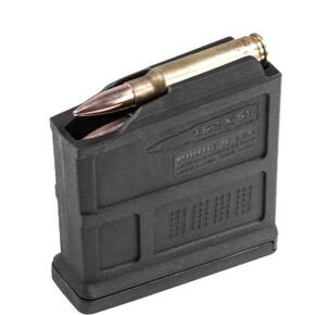 Magpul PMAG 7.62 AICS Short Action 7.62x51mm Nato 5/rd Black Polymer
