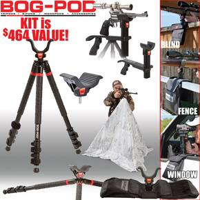 Battenfeld Bog-Pod HD 3s- Heavy Duty Tripod Short Kit w/ Shooting Rest/Wide Body Rest/Saddle Bag