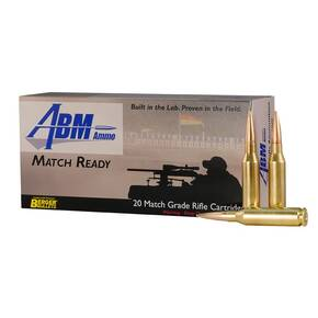 ABM Match Ready Berger Rifle Ammunition .308 WIN 155.5 gr OTM 3000 fps 20/ct