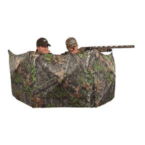 Ameristep 2-Man Throwdown Blind with 3D Leafy Cut Panels - Mossy Oak Obsession