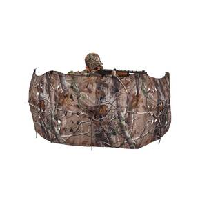 Ameristep 2-Man Throwdown Blind with 3D Leafy Cut Panels - Realtree Xtra