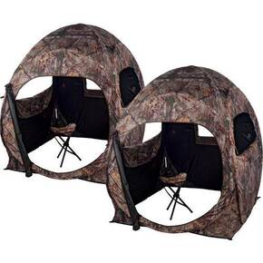 Ameristep 2-Person Double Trouble Combo Ground Blind - Realtree Xtra