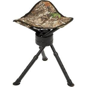Ameristep Tripod Swivel Stool with Carry Bag/Strap - Realtree Edge