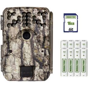 Moultrie A-900 Trail Camera Bundle (Moultrie White Bark Camo) 16MB SD Card & 8 AA Batteries Included - 30MP