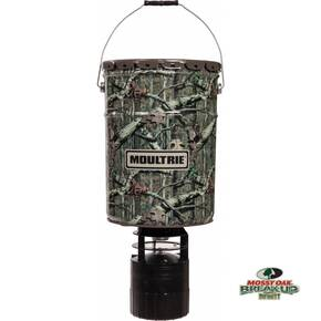 Moultrie 6.5 Gallon Econo Plus Hanging Feeder with Dawn to Dusk Photocell Timer & Quick Lock Adapter - Mossy Oak Break-Up Infinity