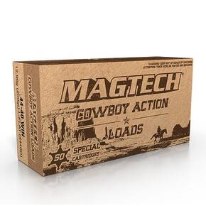 Magtech Cowboy Action Ammunition .44-40 Win 200gr LFN 722 fps 50/ct