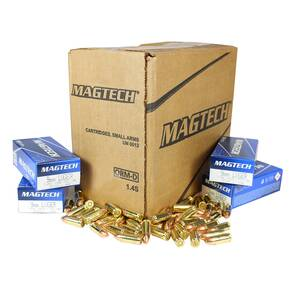 MagTech Handgun Ammunition 9mm Luger 115gr FMJ 1135 fps 1000/ct