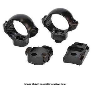 "Millett Turn-In Steel Scope Ring & Scope Base Combo Pack - Browning A-Bolt 1"" Medium, Nickel"