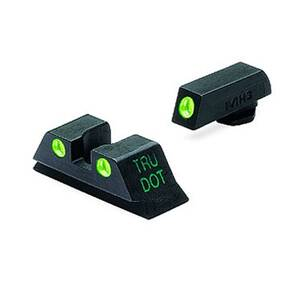Meprolight Tru-Dot Night Sight Set - Glock 9mm, .357 Sig, 40 S&W, .45 GAP Fixed Set TD Suppressor Height Green/Green