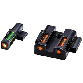 HIVIZ LiteWave H3 sight Orange/Green LitePipe/Orange front ring fits S&W Shield models