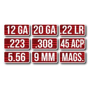 MTM Ammo Caliber Labels 5.56 - 8/ct