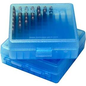 MTM Case Guard P-100 Series Ammo Box .22LR/.25 ACP 100/rd Clear Blue