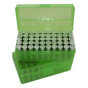 MTM Case Guard P-50 Series Handgun Ammo Box for 44, 41, 45 Mag., 50 rd