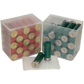 MTM Shell Stack 25 Rd. Compact Shotshell Storage Boxes-4pack