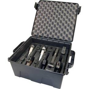 MTM Tactical Pistol Case - 6 Gun Grey