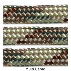E.L. Wood Multi Camo 550 Fish & Fire Paracord 100'