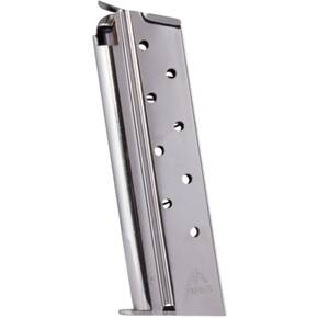 Mec-Gar 1911 Govt Handgun Magazine .38 Super HT Nickel 9/rd