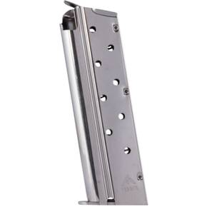 MEC-GAR 1911 Handgun Magazine 9mm HT Nickel 9/rd