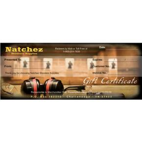 Natchez Shooters Supplies Gift Certificate (Mailed)