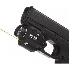 Nightstick Xtreme Lumens Metal Non-Recharge Compact Weapon-Mounted Light w/Green Laser - 550 Lumens