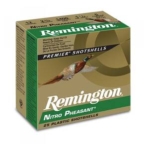 Remington Nitro Pheasant Copper-plated Shotshells 12ga 2-3/4 in 1-3/8 oz Max dr 1300 fps #6 25/ct