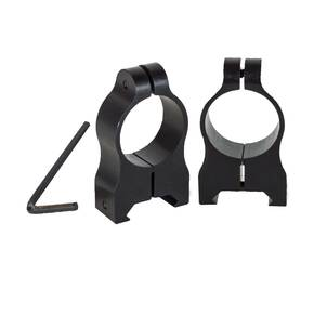 Nikon 2-Piece Ultralok Stud Solid Steel Rings Fits Mauser FN Series, Matte Black