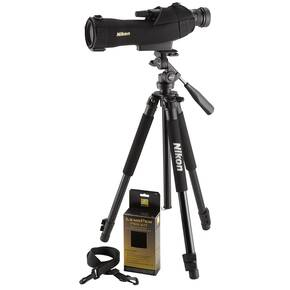 Nikon ProStaff 5 Fieldscope Outfit w/Tripod and Zoom Eyepiece - 16-48x60mm Straight Black
