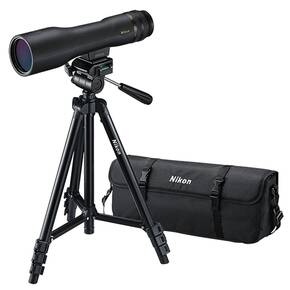 Nikon ProStaff 3 Fieldscope Outfit w/Compact Tripod Zoom Eyepiece Carry Case - 16-48x60mm Straight Black