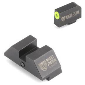 Night Fision Perfect Dot Official Student of the Gun Accur8 Night Sights w/Yellow Frnt+Blk Sq for Glock 17-39