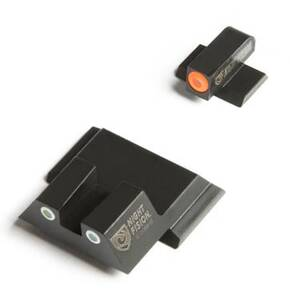 Night Fision Perfect Dot Night Sights with Orange Front + White Square Rear for S&W M&P Shield