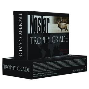 Nosler Trophy Grade Rifle Ammunition 22-250 Rem Bonded Solid Base 64 gr 20/Box