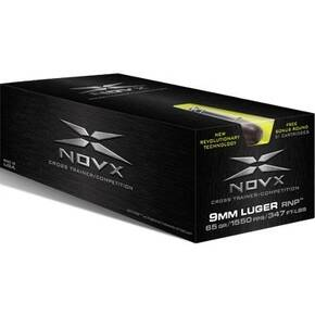 NovX Cross Trainer Ammunition 9mm Luger 65 gr RNP 1600 fps 51/ct