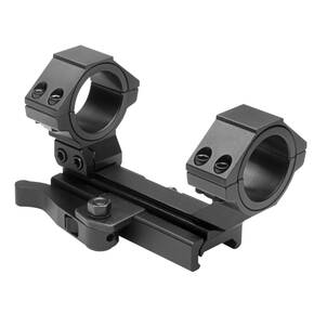 "NcStar AR-15 Integral Rings & Base Cantilever Scope Mount QR Weaver Style / Rear Ring 30mm & 1"" Inserts"