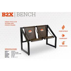 Millennium B2X 2-person Bench