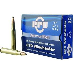PPU Rifle Ammunition .270 Win 150 gr SP 2850 fps  20/ct