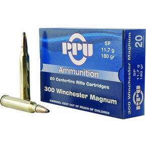 PPU Rifle Ammunition .300 Win Mag 180 gr SP 3250 fps 20/ct